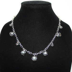 """Beautiful festive silver bell necklace 18"""""""